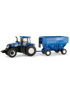 TRACTOR NEW HOLLAND CON REMOLQUE ESC 1:32